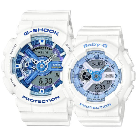 Casio Baby-G & G-Shock Couple Watches BA110BE-7A / GA110WB-7A