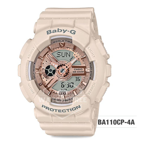 Casio Baby-G Special Color Models Pink Beige Resin Band Watch BA110CP-4A BA-110CP-4A