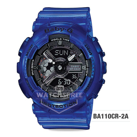 Casio Baby-G Aqua Planet Coral Reef Color Translucent Ocean Water Blue Resin Band Watch BA110CR-2A
