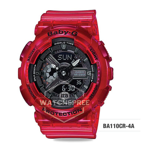 Casio Baby-G Aqua Planet Coral Reef Color Red Resin Band Watch BA110CR-4A