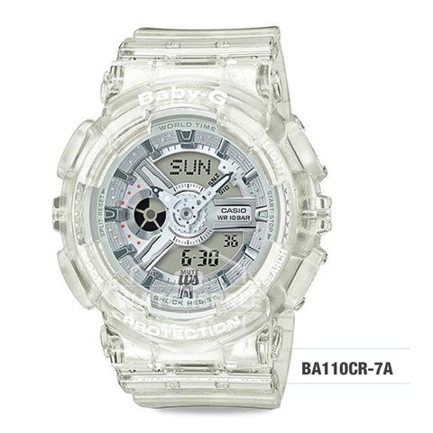 Casio Baby-G Aqua Planet Coral Reef Color White Resin Band Watch BA110CR-7A