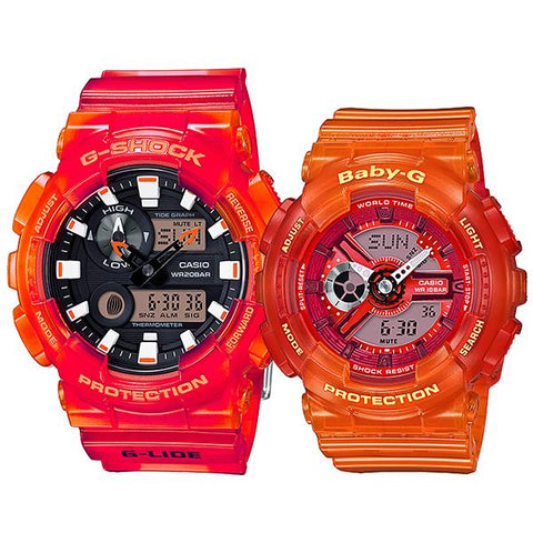 Casio Baby-G & G-Shock Couple Watches BA110JM-4A / GAX100MSA-4A