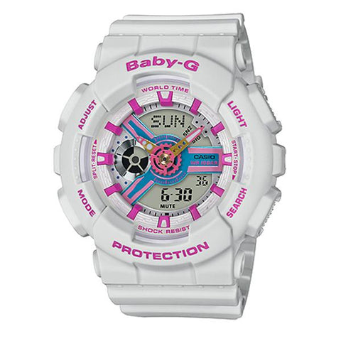 Casio Baby-G Neo Retro Colors BA-110 Series Grey Resin Band Watch BA110NR-8A BA-110NR-8A