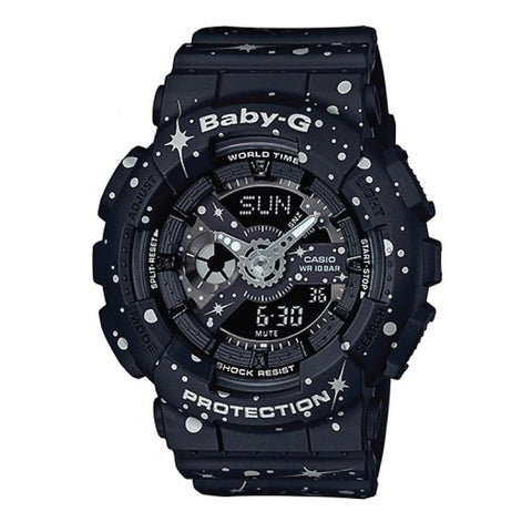 Casio Baby-G BA-110 Starry Sky Series Matte Black Resin Band Watch BA110ST-1A
