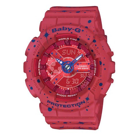 Casio Baby-G BA-110 Starry Sky Series Matte Red Resin Band Watch BA110ST-4A