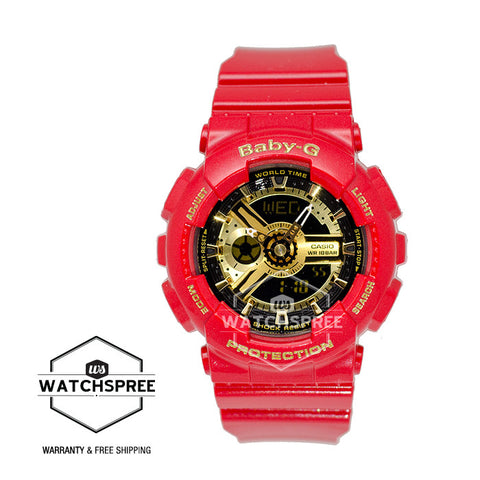 Casio Baby-G Limited Models Red Theme Color Watch BA110VLA-4A