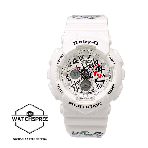 Casio Baby-G × Hello Kitty collaboration model White Resin Strap Watch BA120KT-7A