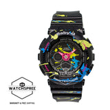 Casio Baby-G Splatter Pattern Series of BA-120 Black Resin Watch BA120SPL-1A