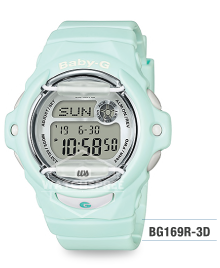 Casio Baby-G Pastel Color Series Pastel Green Resin Band Watch BG169R-3D BG-169R-3D