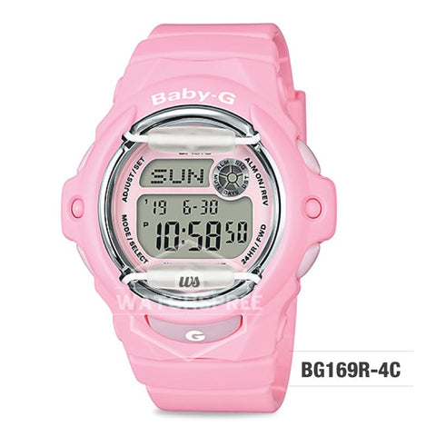 Casio Baby-G Pastel Color Series Pastel Pink Resin Band Watch BG169R-4C BG-169R-4C
