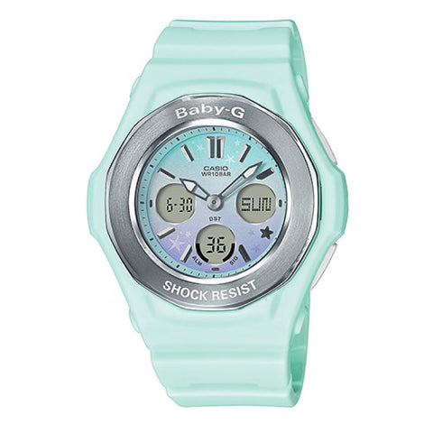 Casio Baby-G BGA-100ST Pastel Starry Sky Series Green Resin Band Watch BGA100ST-3A