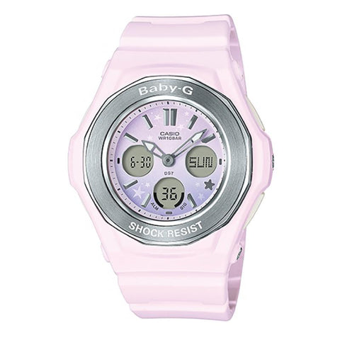 Casio Baby-G BGA-100ST Pastel Starry Sky Series Pink Resin Band Watch BGA100ST-4A