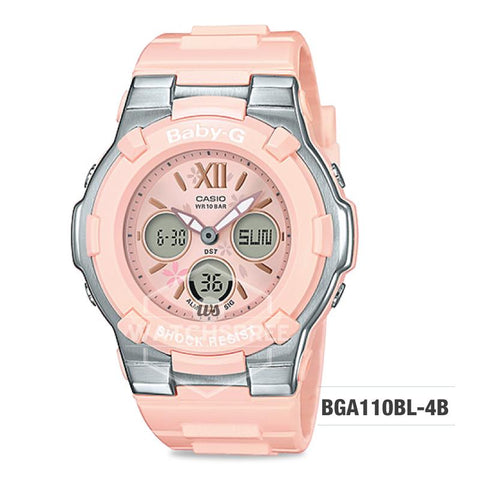 Casio Baby-G Pastel Color Series Peach Resin Band Watch BGA110BL-4B BGA-110BL-4B