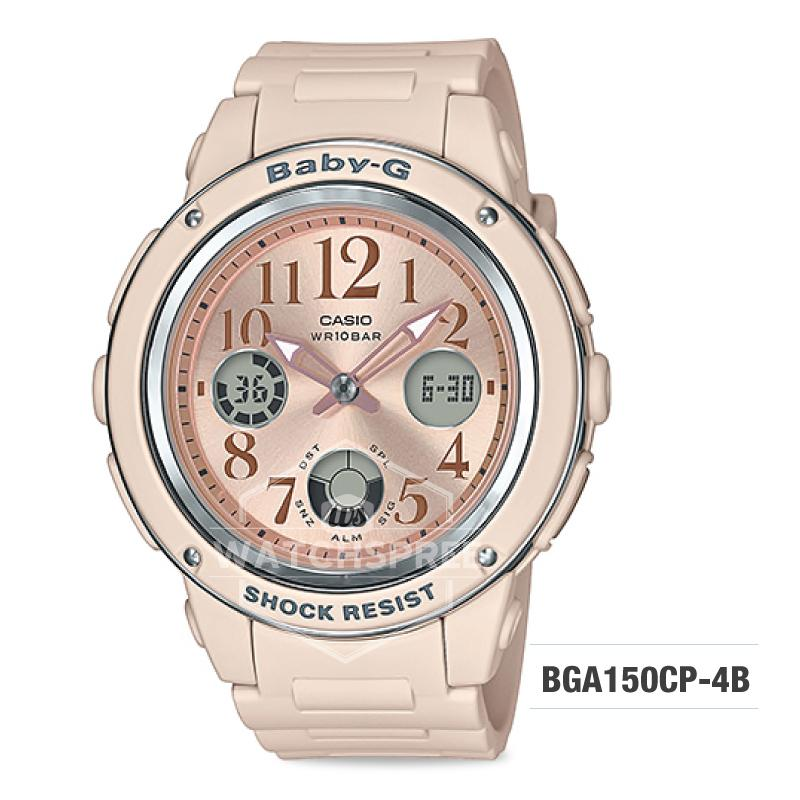 fc51cd77f3c7 Casio Baby-G Special Color Models Pink Beige Resin Band Watch BGA150CP-4B  BGA-150CP-4B