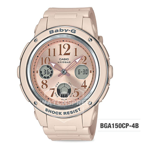 Casio Baby-G Special Color Models Pink Beige Resin Band Watch BGA150CP-4B BGA-150CP-4B