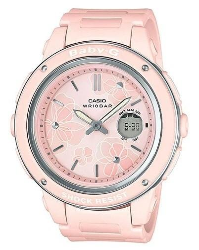 d28838b31e Casio Baby-G Popular Wide Face Pink Resin Band Watch BGA150FL-4A  BGA-150FL-4A