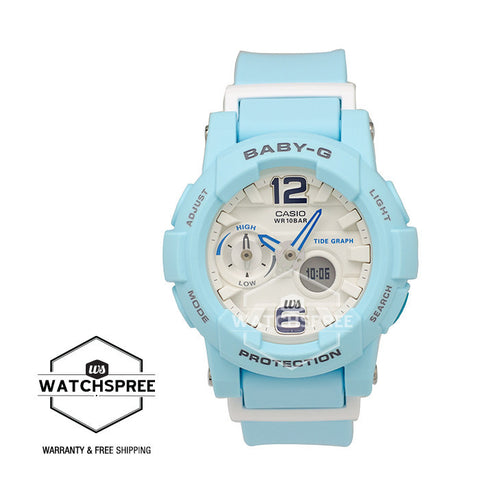 Casio Baby-G Beach Color Series Light Blue Resin Band Watch BGA180BE-2B