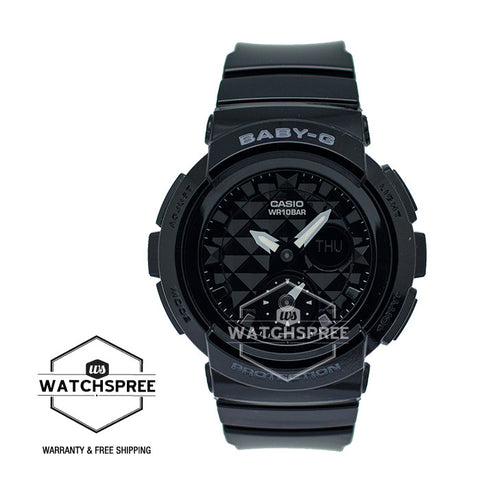 Casio Baby-G Standard Analog Digital Black Resin Strap Watch BGA195-1A