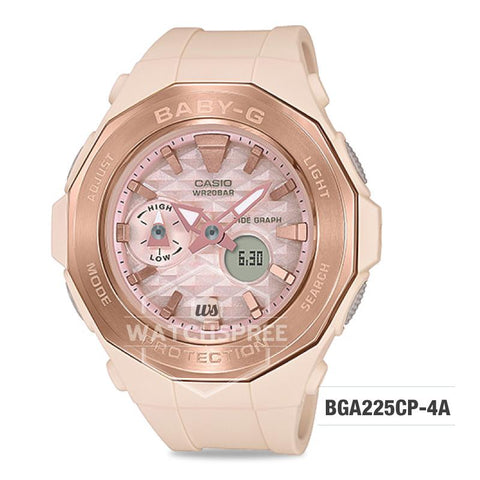 Casio Baby-G Special Color Models Pink Beige Resin Band Watch BGA225CP-4A BGA-225CP-4A