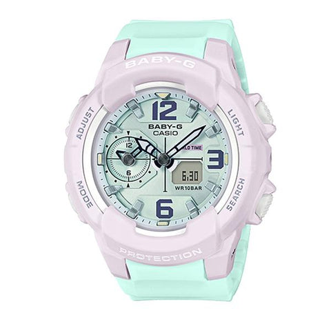 Casio Baby-G Summertime Pastel Colors Two Tone Resin Band Watch BGA230PC-6B BGA-230PC-6B