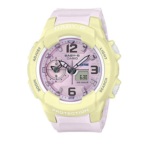 Casio Baby-G Summertime Pastel Colors Two Tone Resin Band Watch BGA230PC-9B BGA-230PC-9B