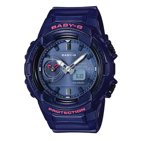Casio Baby-G Unisex Design BGA-230 Series Navy Blue Resin Band Watch BGA230S-2A