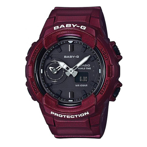 Casio Baby-G Unisex Design BGA-230 Series Red Resin Band Watch BGA230S-4A