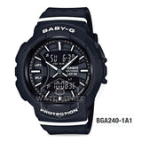 Casio Baby-G BGA-240 Series Black Resin Band Watch BGA240-1A1