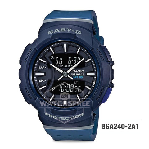 Casio Baby-G BGA-240 Series Navy Blue Resin Band Watch BGA240-2A1