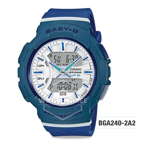 Casio Baby-G BGA-240 Series Dark Blue Resin Band Watch BGA240-2A2