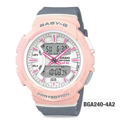 Casio Baby-G BGA-240 Series Grey Resin Band Watch BGA240-4A2