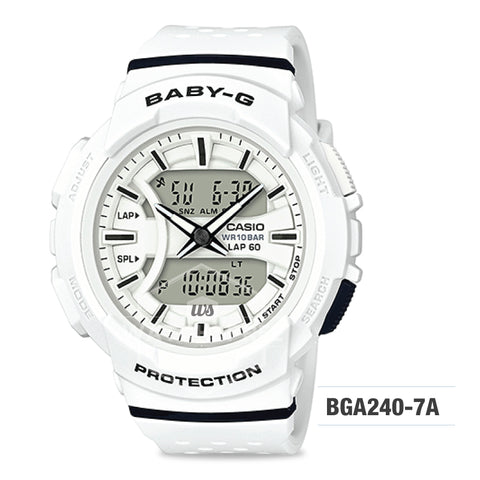 Casio Baby-G New BGA-240 Series White Resin Band Watch BGA240-7A