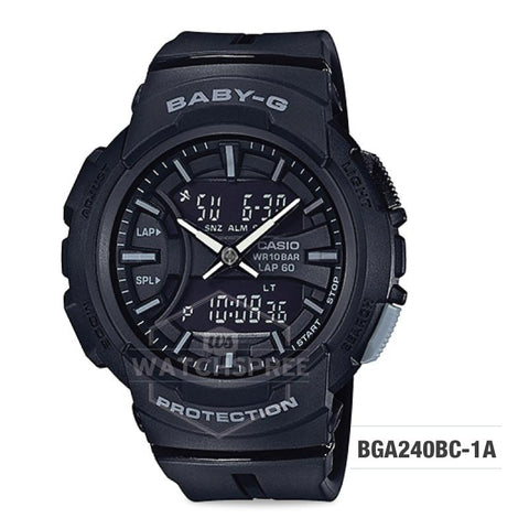 Casio Baby-G For Running Series Black Resin Band Watch BGA240BC-1A BGA-240BC-1A