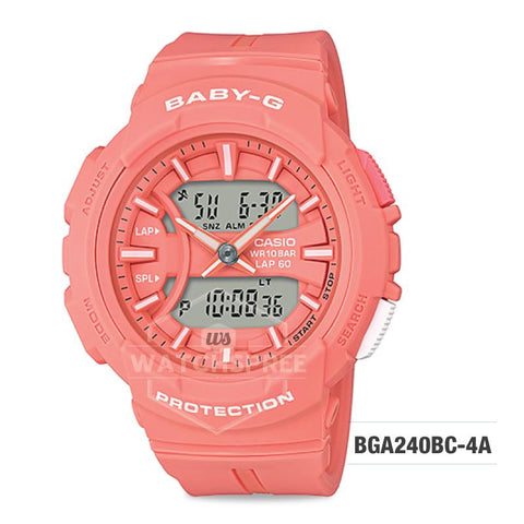 Casio Baby-G For Running Series Orange Resin Band Watch BGA240BC-4A BGA-240BC-4A