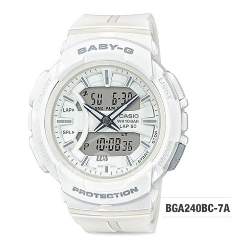 Casio Baby-G For Running Series White Resin Band Watch BGA240BC-7A BGA-240BC-7A