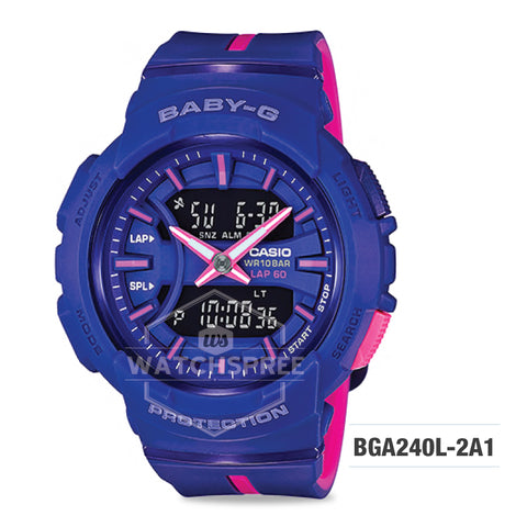 Casio Baby-G Running Series Blue Resin Band Watch BGA240L-2A1
