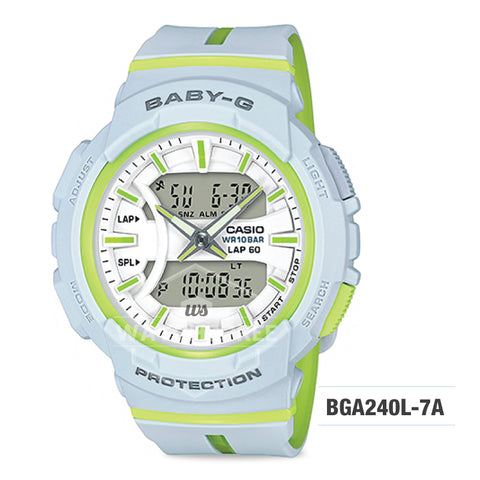 Casio Baby-G Running Series Light Grey Resin Band Watch BGA240L-7A