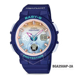Casio Baby-G Aqua Planet Limited Edition Navy Blue Resin Band Watch BGA250AP-2A BGA250AP-2A