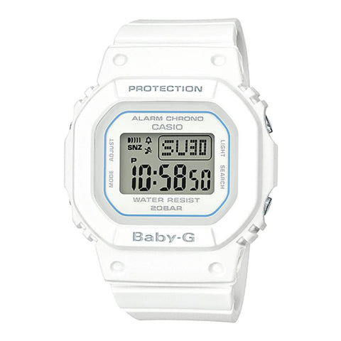 Casio Baby-G BGD-500 Series White Resin Band Watch BGD560-7D
