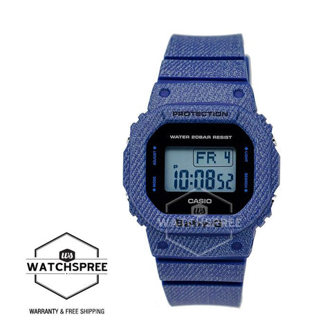 Casio Baby-G New DENIM'D COLOR Special Color Model Dark Blue Resin Band Watch BGD560DE-2D