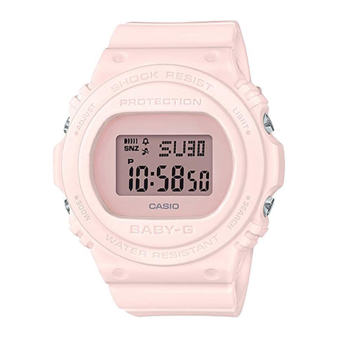 Casio Baby-G Standard Digital New Round Face Pink Resin Band Watch BGD570-4D BGD-570-4D BGD-570-4