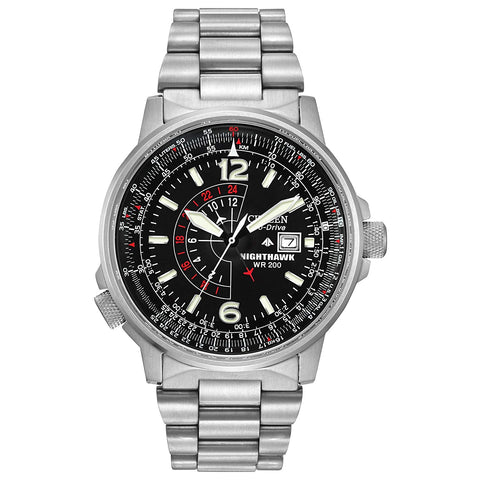 Citizen Nighthawk Eco-Drive Pilot Watch 42 mm Men's Watch BJ7000-52E