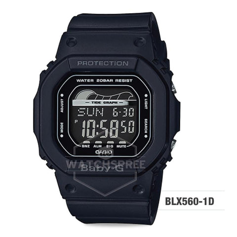 Casio Baby-G Glide Sport Lineup Black Resin Band Watch BLX560-1D BLX-560-1D