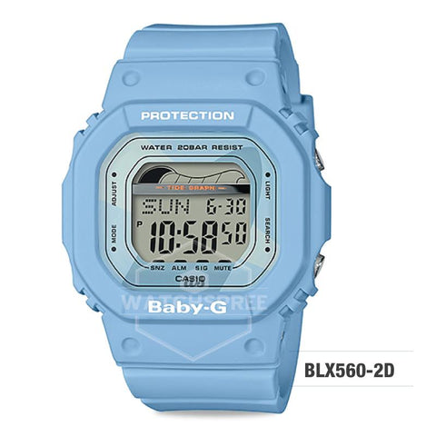 Casio Baby-G Glide Sport Lineup Pastel Blue Resin Band Watch BLX560-2D BLX560-2D