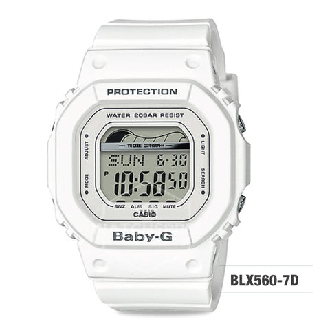 Casio Baby-G Glide Sport Lineup White Resin Band Watch BLX560-7D BLX-560-7D