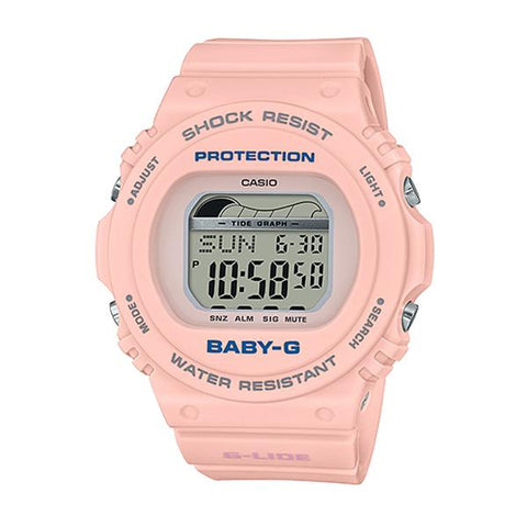 Casio Baby-G G-Lide BLX-570 Series Peach Resin Band Watch BLX570-4D BLX-570-4D BLX-570-4
