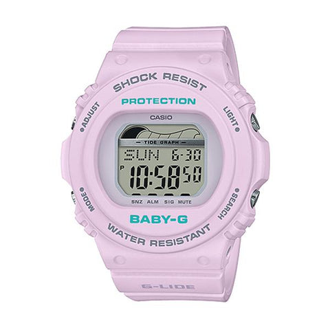 Casio Baby-G G-Lide BLX-570 Series Purple Resin Band Watch BLX570-6D BLX-570-6D BLX-570-6