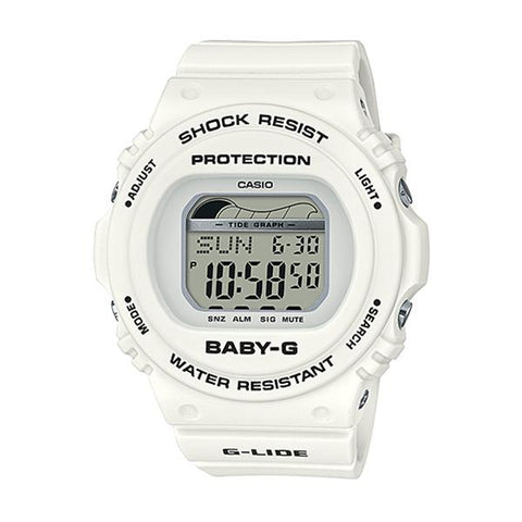 Casio Baby-G G-Lide BLX-570 Series White Resin Band Watch BLX570-7D BLX-570-7D BLX-570-7