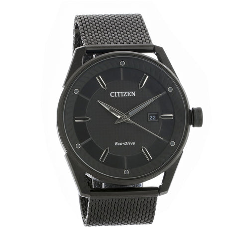 Citizen Drive Black Dial Black Ion-plated Mesh 42 mm Men's Watch BM6988-57E