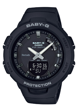 Casio Baby-G G-SQUAD Bluetooth® Black Matte Resin Band Watch BSAB100-1A BSA-B100-1A